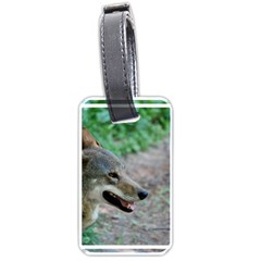 Red Wolf Luggage Tag (one Side) by AnimalLover