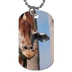 Cute Giraffe Dog Tag (two Sided)  by AnimalLover