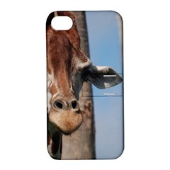 Cute Giraffe Apple Iphone 4/4s Hardshell Case With Stand