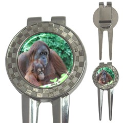 Orangutan Family Golf Pitchfork & Ball Marker
