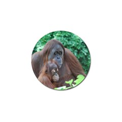 Orangutan Family Golf Ball Marker 10 Pack
