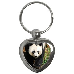 Giant Panda Key Chain (heart) by AnimalLover