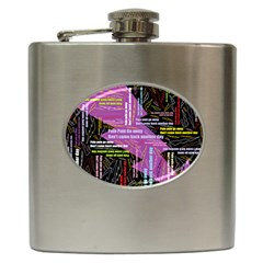 Pain Pain Go Away Hip Flask by FunWithFibro