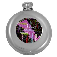 Pain Pain Go Away Hip Flask (round) by FunWithFibro