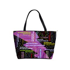 Pain Pain Go Away Large Shoulder Bag by FunWithFibro