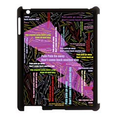Pain Pain Go Away Apple Ipad 3/4 Case (black) by FunWithFibro