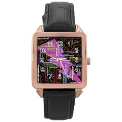Pain Pain Go Away Rose Gold Leather Watch  by FunWithFibro