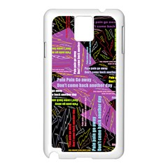 Pain Pain Go Away Samsung Galaxy Note 3 N9005 Case (white)