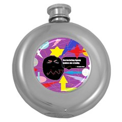 Excruciating Agony Hip Flask (round)