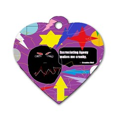 Excruciating Agony Dog Tag Heart (two Sided) by FunWithFibro