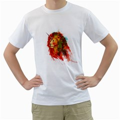 King Of Imaginary Beasts Men s T-shirt (white)  by Contest1885123