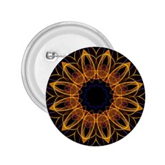 Yellow Purple Lotus Mandala 2 25  Button