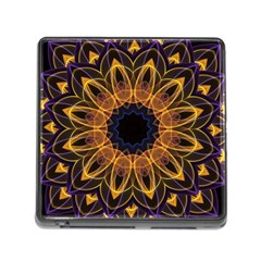 Yellow Purple Lotus Mandala Memory Card Reader With Storage (square) by Zandiepants