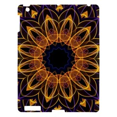 Yellow Purple Lotus Mandala Apple Ipad 3/4 Hardshell Case by Zandiepants