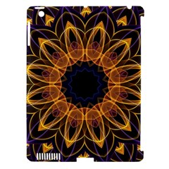 Yellow Purple Lotus Mandala Apple Ipad 3/4 Hardshell Case (compatible With Smart Cover) by Zandiepants