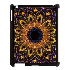 Yellow Purple Lotus Mandala Apple Ipad 3/4 Case (black) by Zandiepants
