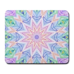 Soft Rainbow Star Mandala Large Mouse Pad (rectangle) by Zandiepants