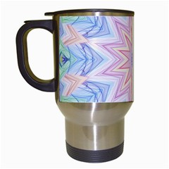 Soft Rainbow Star Mandala Travel Mug (white) by Zandiepants