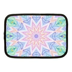 Soft Rainbow Star Mandala Netbook Sleeve (medium) by Zandiepants