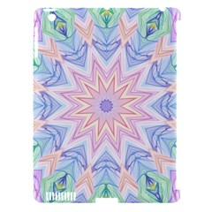 Soft Rainbow Star Mandala Apple Ipad 3/4 Hardshell Case (compatible With Smart Cover) by Zandiepants