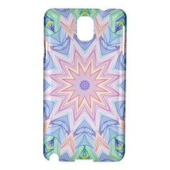 Soft Rainbow Star Mandala Samsung Galaxy Note 3 N9005 Hardshell Case by Zandiepants
