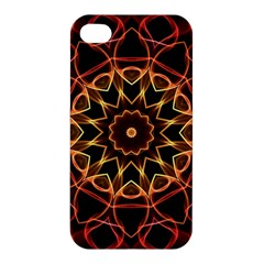 Yellow And Red Mandala Apple Iphone 4/4s Hardshell Case by Zandiepants