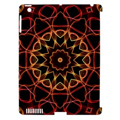 Yellow And Red Mandala Apple Ipad 3/4 Hardshell Case (compatible With Smart Cover) by Zandiepants