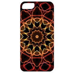 Yellow And Red Mandala Apple Iphone 5 Classic Hardshell Case by Zandiepants