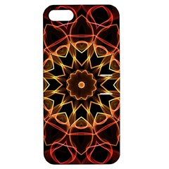 Yellow And Red Mandala Apple Iphone 5 Hardshell Case With Stand by Zandiepants