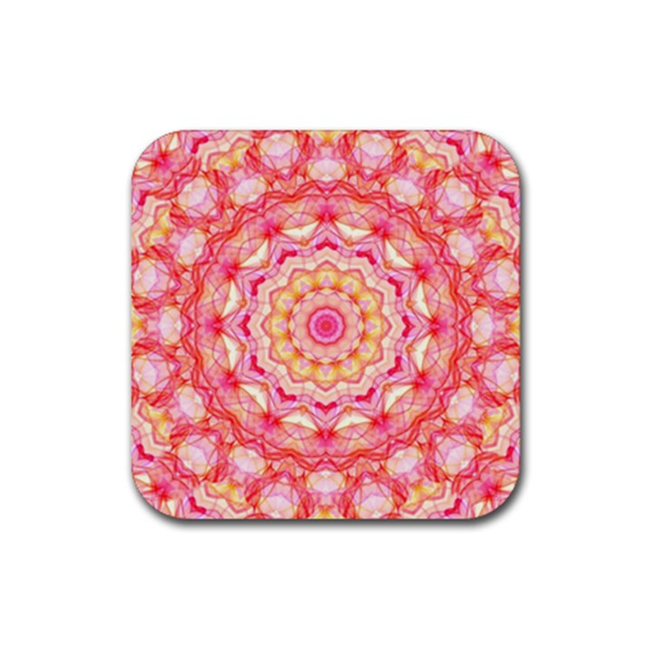 Yellow Pink Romance Drink Coaster (Square)