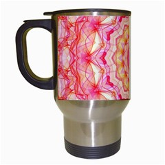 Yellow Pink Romance Travel Mug (white) by Zandiepants