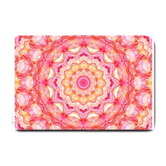 Yellow Pink Romance Small Door Mat by Zandiepants
