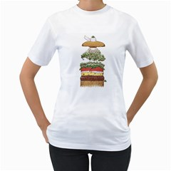 It s Burger Time! Women s T Shirt (white)  by Contest1883496