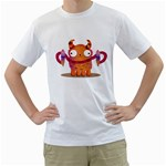 Icrecream monster Men s T-Shirt (White)  Front