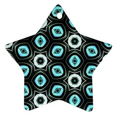 Pale Blue Elegant Retro Star Ornament (two Sides) by Colorfulart23
