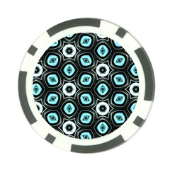 Pale Blue Elegant Retro Poker Chip by Colorfulart23