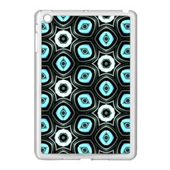Pale Blue Elegant Retro Apple Ipad Mini Case (white) by Colorfulart23
