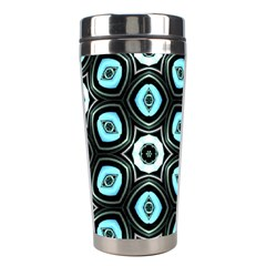 Pale Blue Elegant Retro Stainless Steel Travel Tumbler by Colorfulart23
