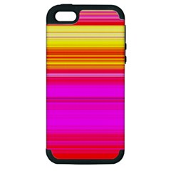 Colour Lines Apple Iphone 5 Hardshell Case (pc+silicone)