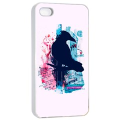 Qouth The Raven   Answer Your Phone  Apple Iphone 4/4s Seamless Case (white) by TheTalkingDead