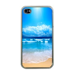 Look At Your Phone And Relax Apple Iphone 4 Case (clear)