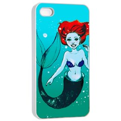 Mermaid Greetings Apple Iphone 4/4s Seamless Case (white)