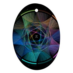 Pi Visualized Oval Ornament by mousepads123