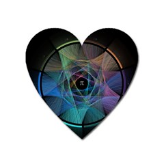 Pi Visualized Magnet (heart) by mousepads123