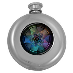 Pi Visualized Hip Flask (round) by mousepads123