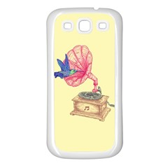 Bird Love Music Samsung Galaxy S3 Back Case (white) by Contest1736674