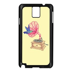 Bird Love Music Samsung Galaxy Note 3 N9005 Case (black) by Contest1736674
