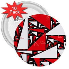 Titillating Triangles 3  Button (10 Pack)