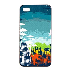 Rainforest City Apple Iphone 4/4s Seamless Case (black) by Contest1888822