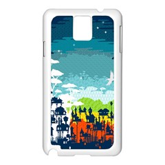 Rainforest City Samsung Galaxy Note 3 N9005 Case (white) by Contest1888822